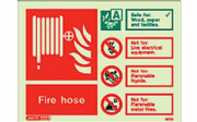 6375D/R - FIRE HOSE EXTINGUISHER IDENTIFICATION SIGN 150 x 200mm